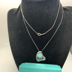 Tiffany & Co925 18Kt Heart Pendant Necklace 26""